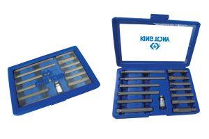 Conjunto com 13 chaves especiais para parafusos de fixação do cabeçote